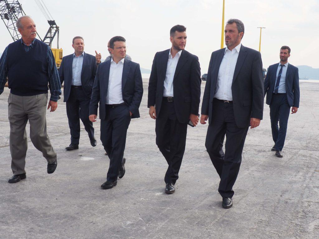 Επίσκεψη της Διοίκησης του ΤΑΙΠΕΔ στο Λιμάνι της  Ελευσίνας.